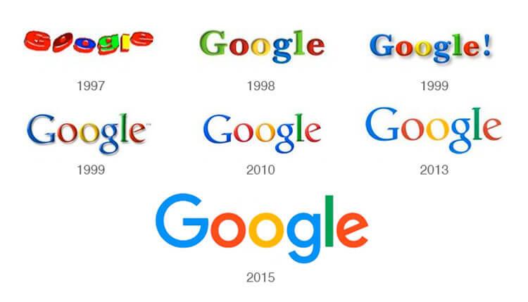 evolucion logo google