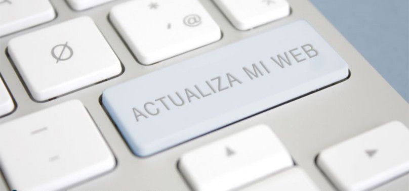 actualizar pagina web zaragoza